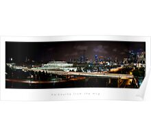 melbourne from the mcg at night (no stroke) Poster