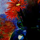 Red Flower /Blue case by Jennib