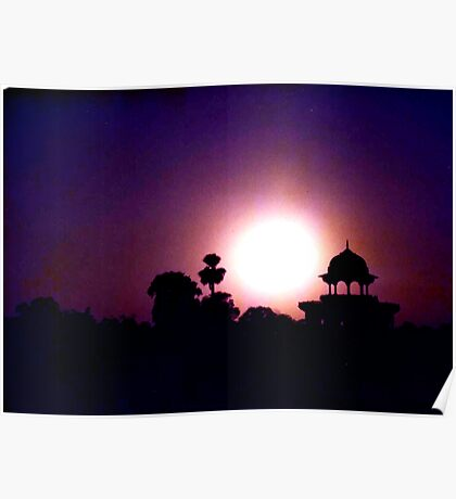 Indian Silhouette Poster