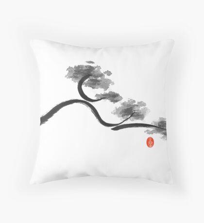 Curvy Branch Throw Pillow