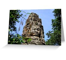 The Face, Bayon, Cambodia Greeting Card