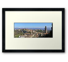 Italian panorama: Perugia's Monteluce district, the Tiber valley and the Apennines. Framed Print