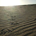 Foot Prints In The Sand by RENNAE24