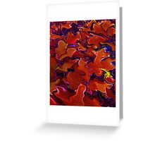 Color Me Red, abstract art, home decor, wall art Greeting Card