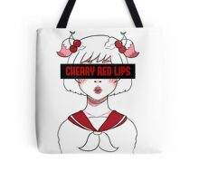 """Cherry Red Lips"" Girl  Tote Bag"