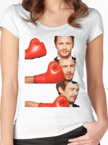 James Franco gets the humor knocked out of him Women's Fitted Scoop T-Shirt