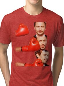 James Franco gets the humor knocked out of him Tri-blend T-Shirt