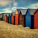 West Wittering Beach Huts by Amanda White