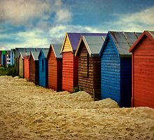 West Wittering Beach Huts by Amanda White