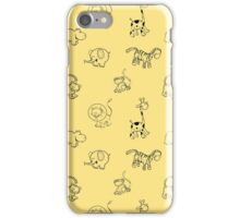 Pattern with the African animals. iPhone Case/Skin
