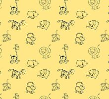 Pattern with the African animals. by Voron4ihina