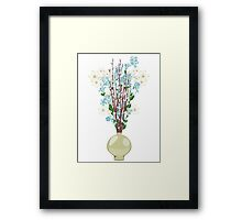 Spring flowers in a Vase Framed Print