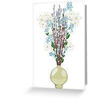 Spring flowers in a Vase Greeting Card