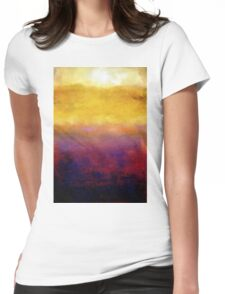 Golden Sunset on Lake Michigan Womens Fitted T-Shirt