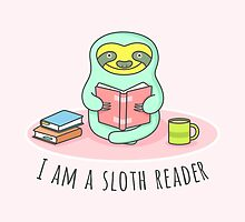 Reading Sloth by sombrasblancas