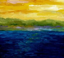 Sunset on the Lake by Michelle Calkins