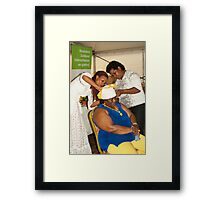 The folding of Curacao traditional head coverings  Framed Print