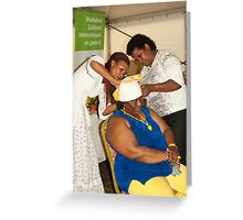 The folding of Curacao traditional head coverings  Greeting Card