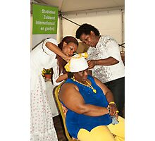 The folding of Curacao traditional head coverings  Photographic Print
