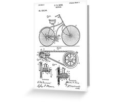 Bicycle Patent  Greeting Card