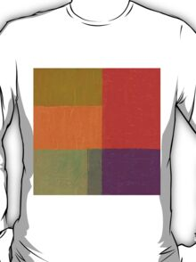 Red and Green Abstract T-Shirt