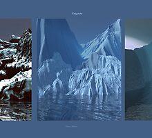 Triptych 1  Glacier Meltdown by Sazzart