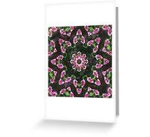 Rosas Moradas 2 Kaleidoscope 11 Greeting Card