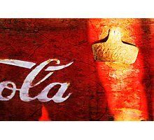 Old Coke Box Photographic Print