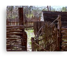 Colonial Poultry Yard Canvas Print