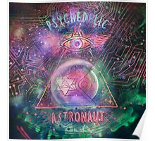 Psychedelic Astronaut logo print Poster