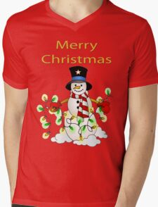 Snowman with Lights Tee T-Shirt