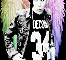 Jiyong w/ Angel Wings  by yourlittledeath