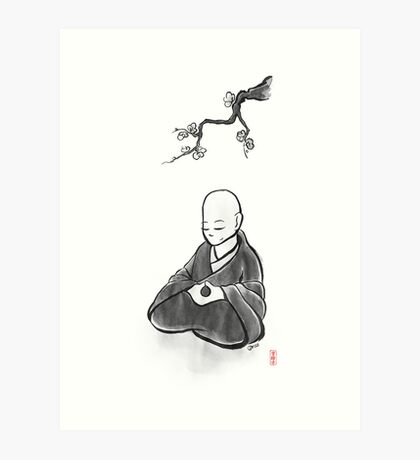 To Sit in Silence Art Print