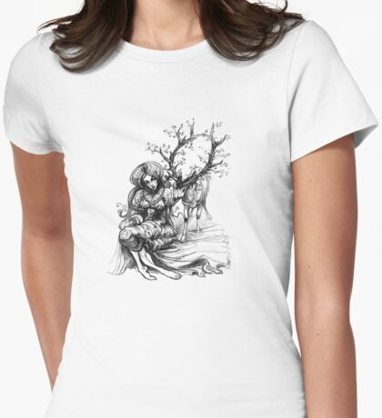 Forest Spirits Womens Fitted T-Shirt