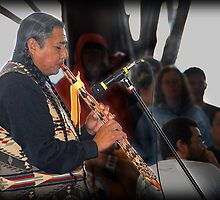 Flute Player (Pow Wow Series) by Dyle Warren