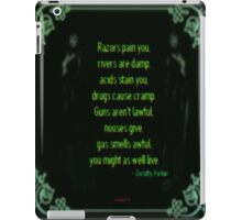 Might As Well Live - Dorothy Parker (emerald) iPad Case/Skin