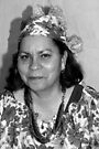 Lady with Curacao traditional headcovering - portrait 1 BW by steppeland