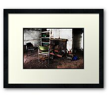 Last refuge of the clay people Framed Print