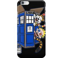 Calvin And Hobbes Tardis dr Who Funny Time iPhone Case/Skin