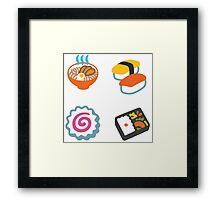 Google Hangouts - Japan emoji Framed Print