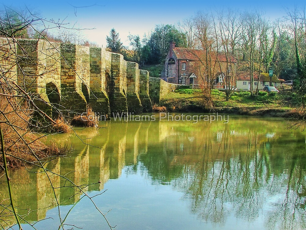Stopham Bridge and the White Hart by Colin  Williams Photography