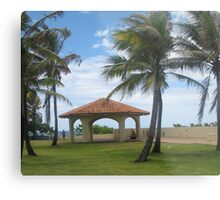Gazebo in San Juan Metal Print