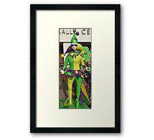 Duct tape clown Framed Print