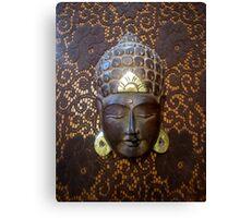 Budda su merletto  Canvas Print