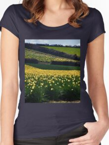 A Host of Golden Daffodils.... Women's Fitted Scoop T-Shirt