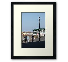 Chased by the shadows of a monsterous carbuncle! Framed Print