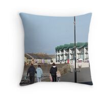 Chased by the shadows of a monsterous carbuncle! Throw Pillow