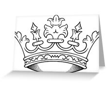 Crown for You in Black and White Greeting Card