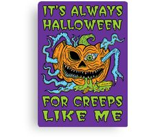 Halloween Creep Canvas Print