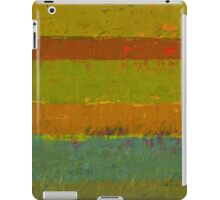 Teal and Chartreuse Layers iPad Case/Skin